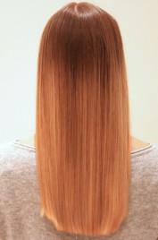 efter steampod med produkt i håret